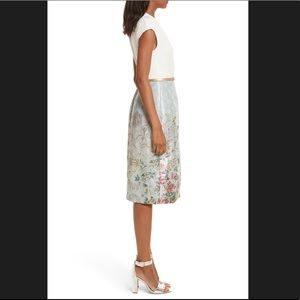 Ted Baker London Dresses - Ted Baker Faux Wrap Blue/Ivory Dress
